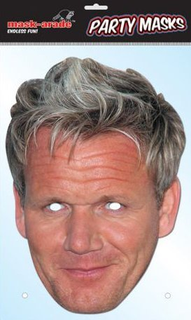 Gordon Ramsay Celebrity Card Face Mask - 1