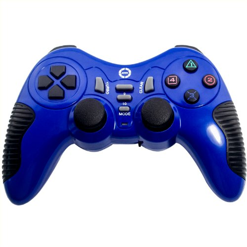 Ckeyin 2.4GHz Wireless Controller Gamepad For PC Sony PS2 PS3 (Blue)