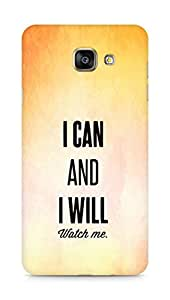 AMEZ i can and i will watch me Back Cover For Samsung Galaxy A7 (2016 EDITION)