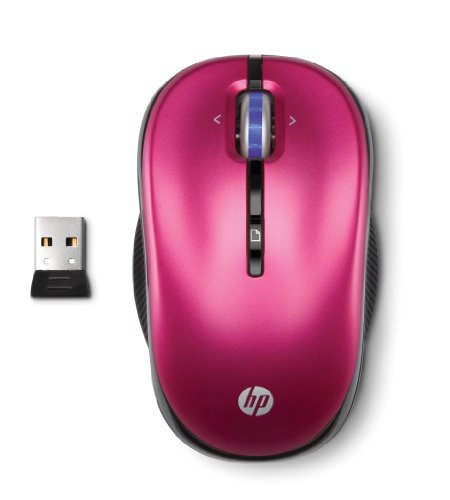 HP 2.4GHz Wireless Optical Mobile Mouse Illuminous Rose