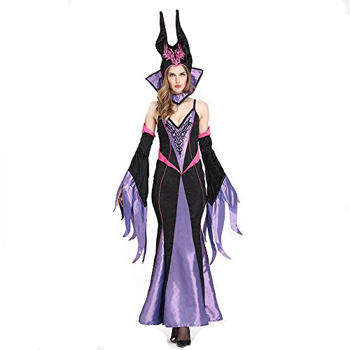 Halloween Christmas Christening Gown Costumes Large For Disney Queen Maleficent (Maleficent Tween Costume)