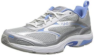 RYKA Women's Intent XT 2 V 2 Training Shoe,Chrome Silver/Elite Blue/White,5 M US