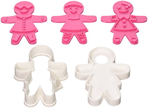 Tovolo Ginger Girl Cookie Cutter, Pink