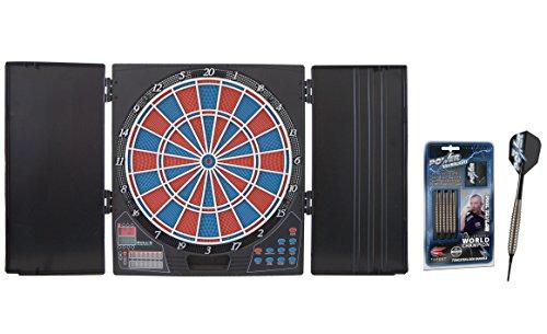 Bulls Lightning elektronisches Dartboard + Target Phil Taylor Power Silverlight Softdarts