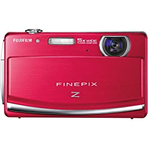 Fujifilm FinePix Z90 14 MP Digital Camera with Fujinon 5x Wide Angle Optical Zoom Lens and 3-Inch Touch-Screen LCD (Red)