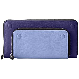 Vince Camuto Mikey Checkbook Wallet,Wedgewood/Deep Cobalt,One Size