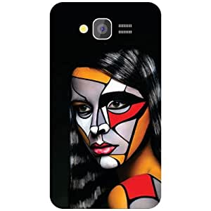 Printland Colored Girl Back Cover For Samsung Galaxy Grand 2