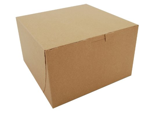 Southern Champion Tray 09455K Kraft Paperboard Non Window Lock Corner Bakery Box, 8