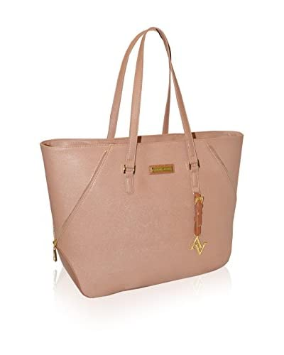 Adrienne Vittadini Saffiano East West Business Tote, Natural
