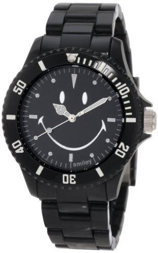 "Smiley ""Happy Time"" Men'S Wgs-Sobv01 Smiley Original Black Analogue Watch"