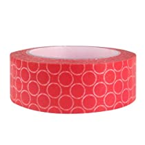 Wrapables Dotted Japanese Washi Masking Tape, Red Bubbles