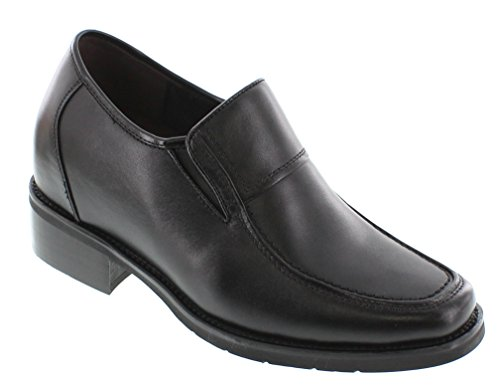 Calden - K78562 - 3.8 Inches Taller - Size 10 D Us - Super Light - Height Increasing Elevator Shoes (Black Extra Heightening Slip On Shoes)