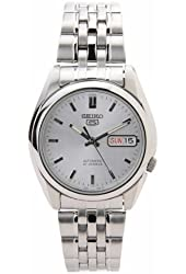 Seiko Men's SNK355K Seiko 5 Automatic Silver Dial Stainless Steel Watch