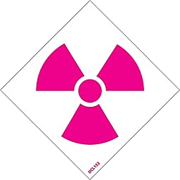 DCL152 National Marker NFPA Label Symbol, Radiation, 2 Inch (5/Pk), Ps Vinyl (Pack of 5)
