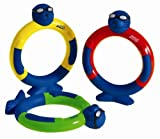 New Zoggs Kids Zoggy Dive Rings Water Confidence Swimming Pool Toy Pack Of 3