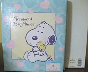 Hallmark Baby Snoopy Treasured Baby Times Refillable Keepsake Album