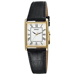 Click to buy Seiko Watches for Men: SNF672 Dress Black Leather Strap Watch from Amazon!