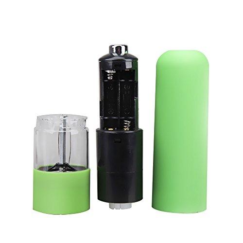 Vktech電動ペッパーミル 電動ソルト&ペパーミル ライト・粗さ調節機能付き (緑)