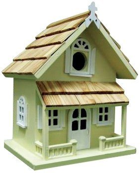 Victorian Cottage Birdhouse, Yellow