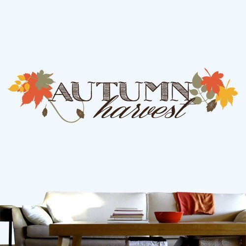 WQH000053_24 Autumn Harvest 24 Inch Quote Vinyl Wall Decal