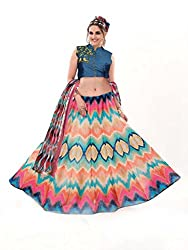 Khushi Trendz Multi Colour Pure Silk Designer Lehenga Choli