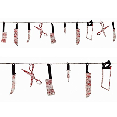 Halloween Horror Chop Shop Bloody Weapon Gory Garland Party Decoration (Gruesome Halloween Ideas)