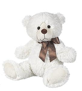 "Ganz 19"" Reggie Bear Plush Toy, White"