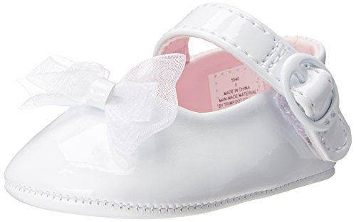 Baby Deer Patent Sm With Bow Mary Jane (Infant),White,2 M Us Infant front-36549