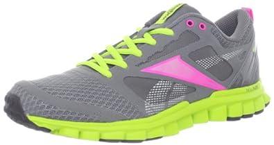 Reebok Women's RealFlex Speed Running Shoe,Grey/Pink/Green/Silver,5 M US