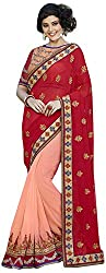 Blossom Boutiques Women's Georgette Saree (2709_1)