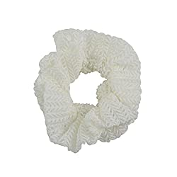 Sarah Woven Rubber Band for Women - Off-White
