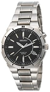 Seiko Men's SKA347 Kinetic Silver-Tone Watch