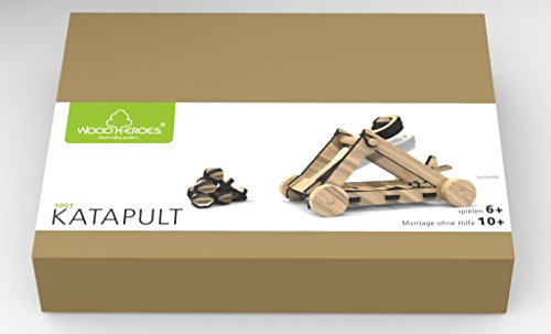 WoodHeroes 1001 Katapult Bausatz aus Holz