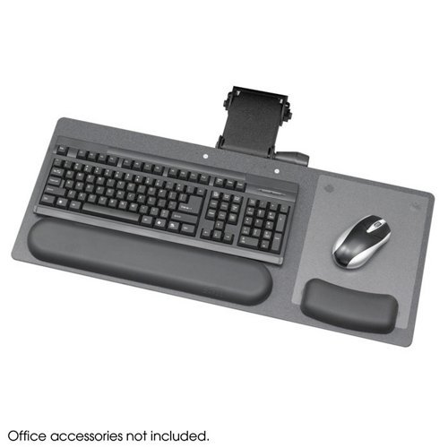 Ergo-Comfort Articulating Keyboard/Mouse Platform, 28 x 11-3/4, Sold as 1 Each