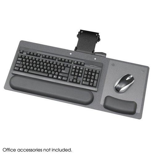 "Safco Products Ergo-Comfort Articulating 28"" Keyboard/Mouse Arm, Black Granite Fleck, 2137"