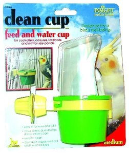 JW Pet Company 080-31309 JW Pet Company Insight Clean Cup Feed And Water Medium Bird