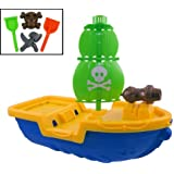 Giant Pirate Ship Beach Toy Set for Kids with Sand Playset, Assorted Color