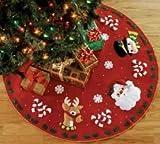 Bucilla Santa & Friends Tree Skirt Felt Applique Kit