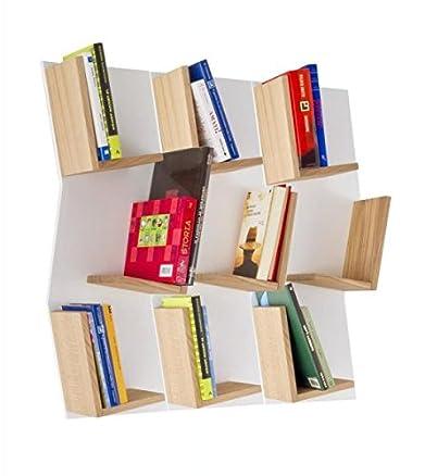 Bioecoshop Libreria Pensile In Legno Massello Bioeco Ka Sus 76 Mis 17 x 30 Cm Altezza 76 Cm Made In Italy