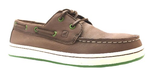Boy's Cupsole 2 Eye Sperry Choc Brown Lace Up Leather Boat Shoes