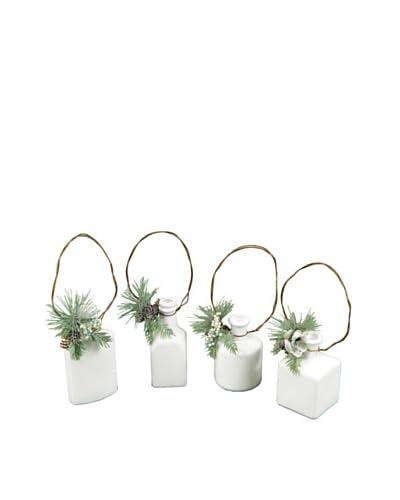Melrose International Set of 4 Decorative Cream Bottles