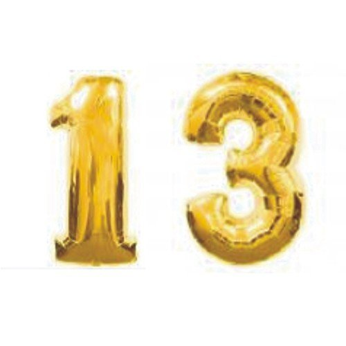Grabo Giant 13th Gold Number Balloons (Number 13 compare prices)
