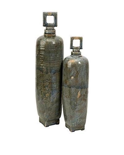 Set of 2 Laertes Ceramic Vases