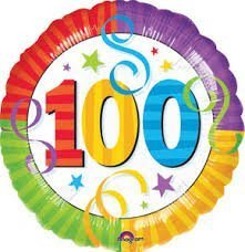 "Anagram International Perfection 100 Foil Balloon, 18"", Multicolor - 1"