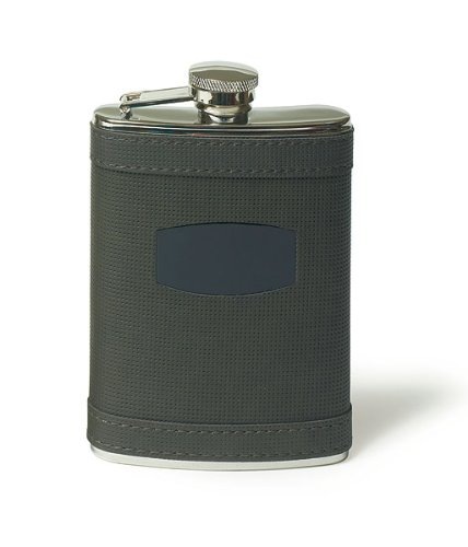Stainless-Flask-Wrapped-in-Charcoal-Grey-Faux-Leather