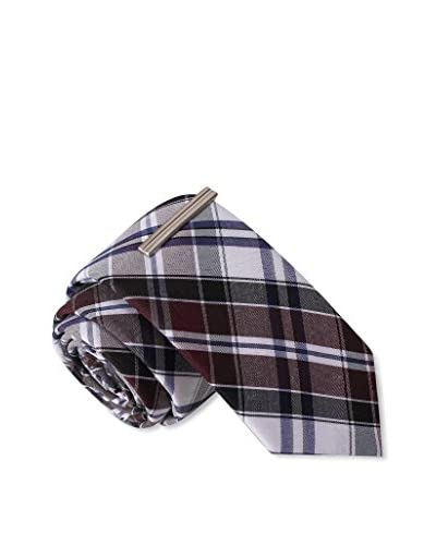 Skinny Tie Madness Men's Robbed by Ninjas Plaid, Purple
