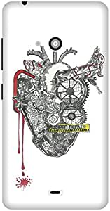 The Racoon Grip printed designer hard back mobile phone case cover for Microsoft Lumia 540. (The Machin)