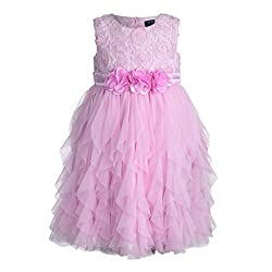 Baby Pink Girls Party Wear Dress (2-3 Years)