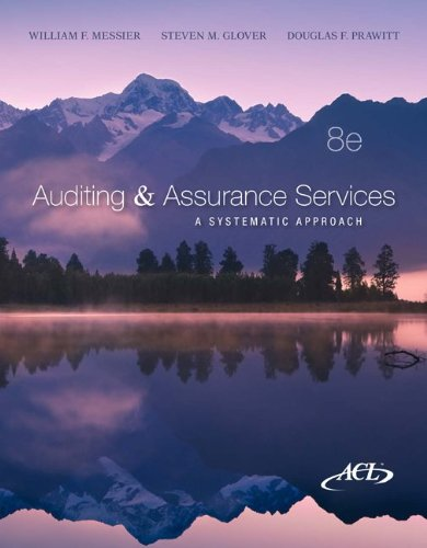 Auditing & Assurance Services: A Systematic Approach,...