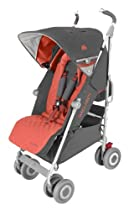 Maclaren Techno XLR Stroller Charcoal/Coral Orange